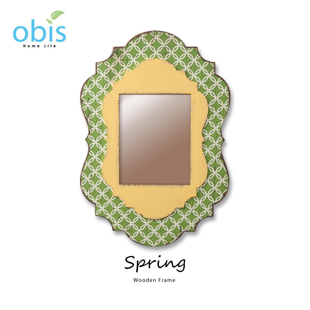 Spring綠色幽徑鄉村風壁飾相框/預購