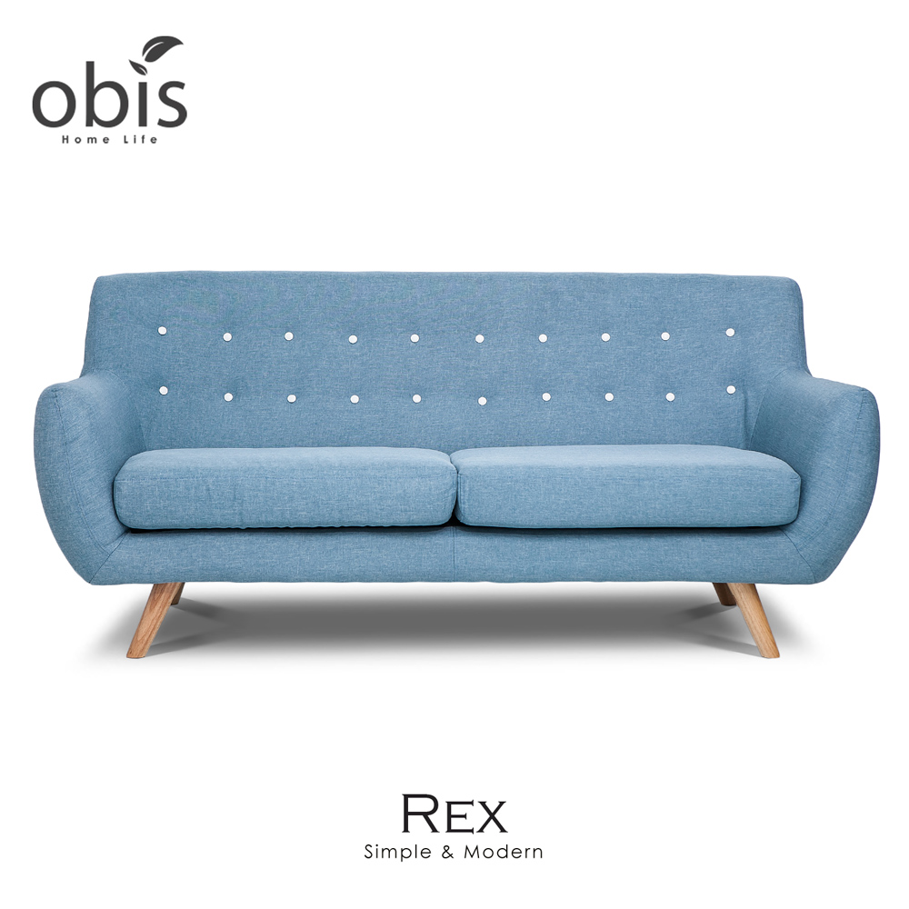 Rex 北歐風三人布沙發