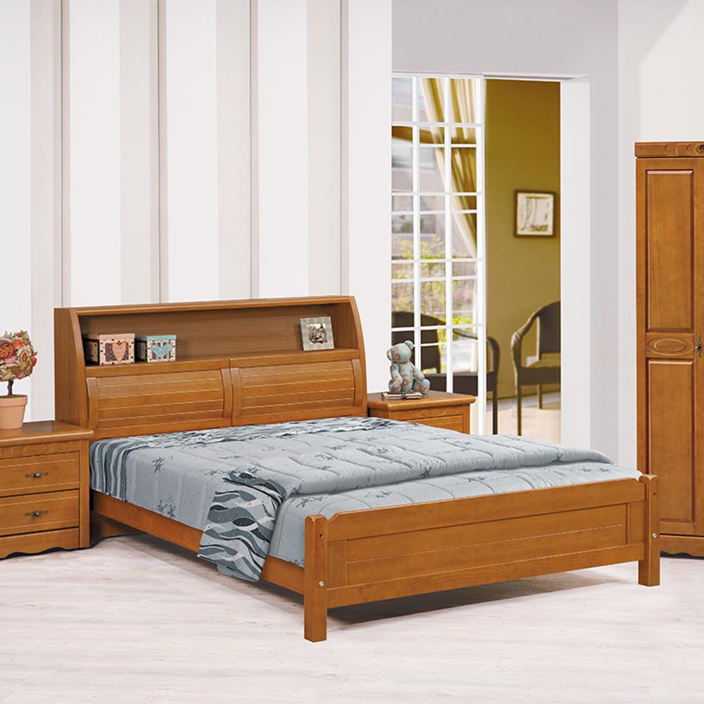 伊琳諾實木樟木色5尺書架床組
