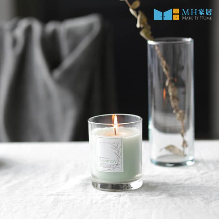 貝爾拉玻璃香氛蠟燭(迷迭香)