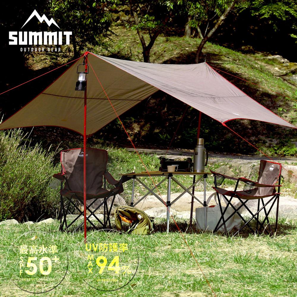 戶外系列抗UV天幕帳篷/遮陽罩-咖啡色