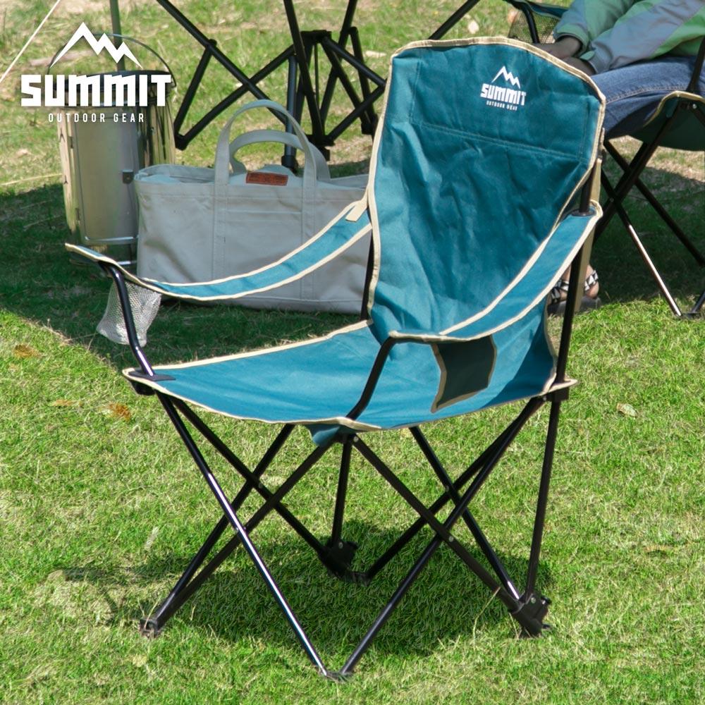 戶外系列高椅背/輕巧摺疊椅/露營折疊椅-綠色