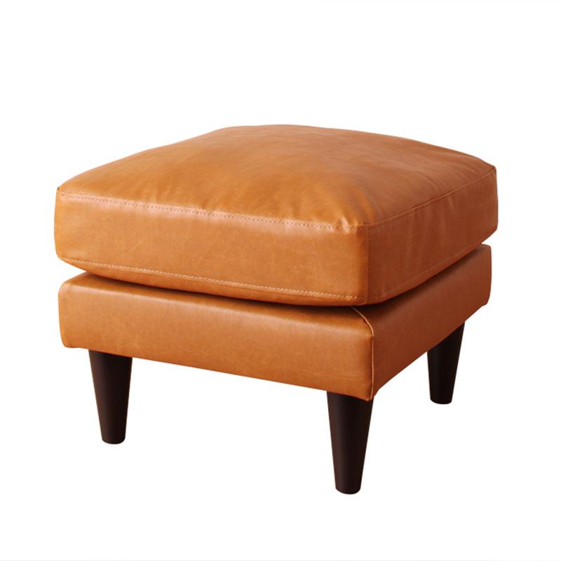 工業風情裂紋皮質腳凳-3色