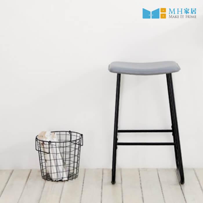諾迪鐵質高腳椅 (黑色)