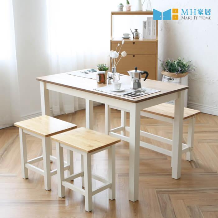 法蘭奇實木餐桌 原木色-不含餐椅