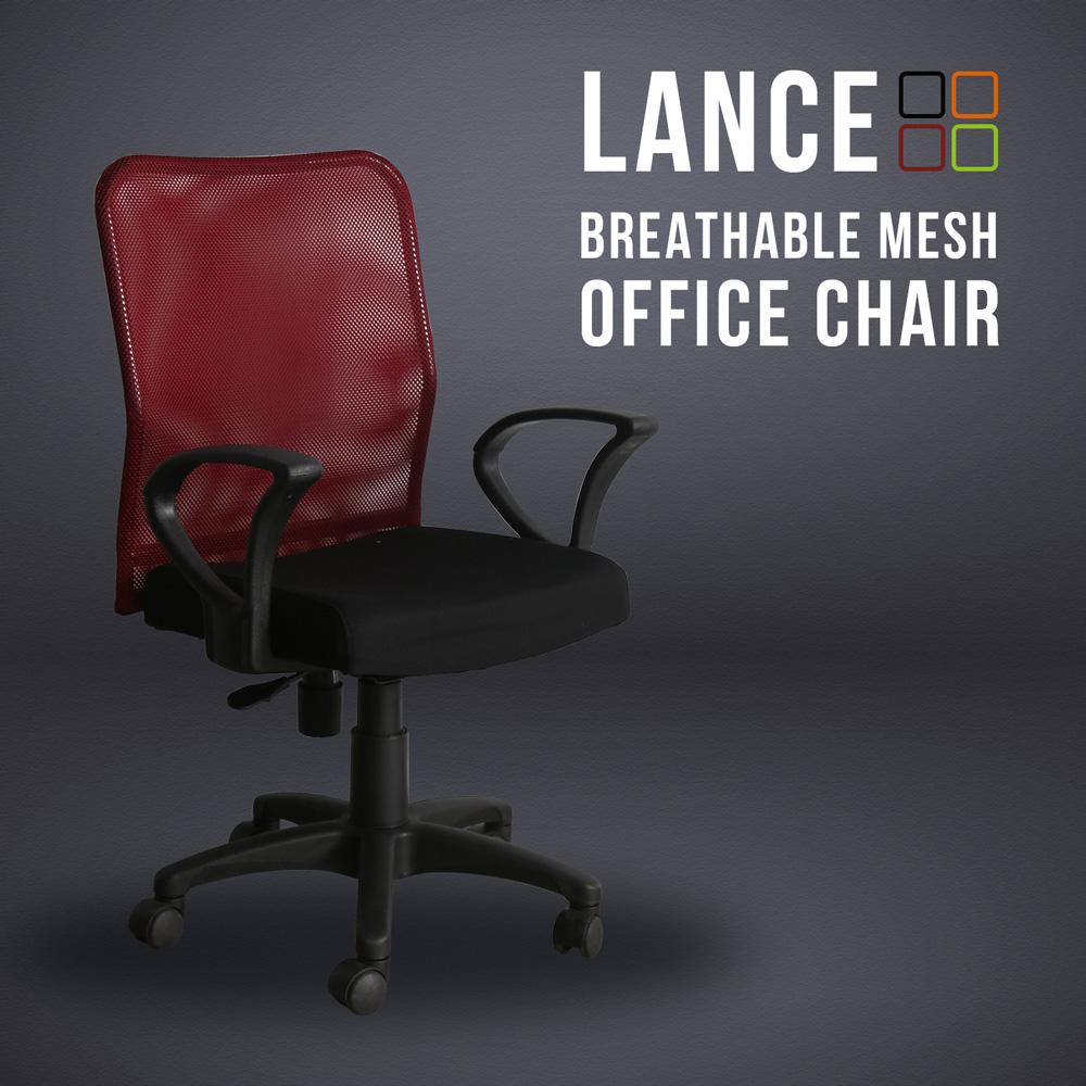 藍斯透氣網布辦公椅-4色