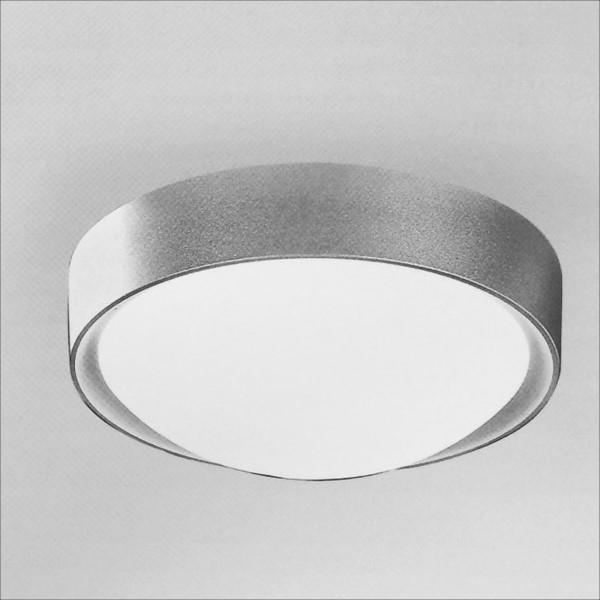 銀色金屬烤漆吸頂燈(QD40612)