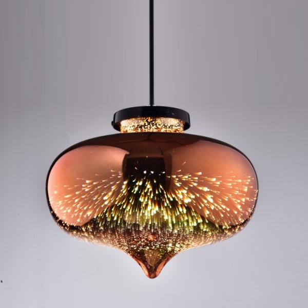 玫瑰金玻璃吊燈(PS14727)