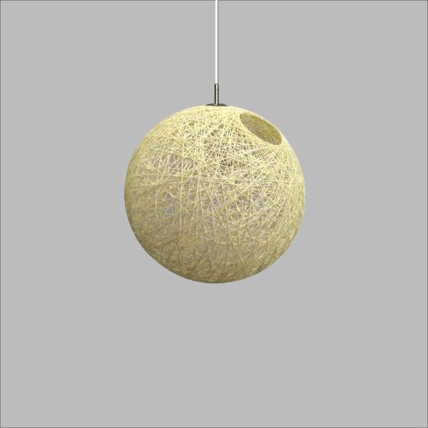 米黃麻線+金屬吊燈(PO24401)