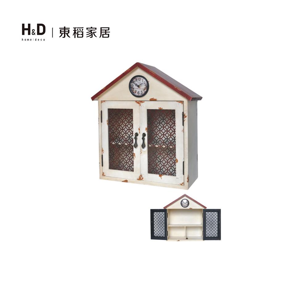 帶鐘房屋木壁櫃