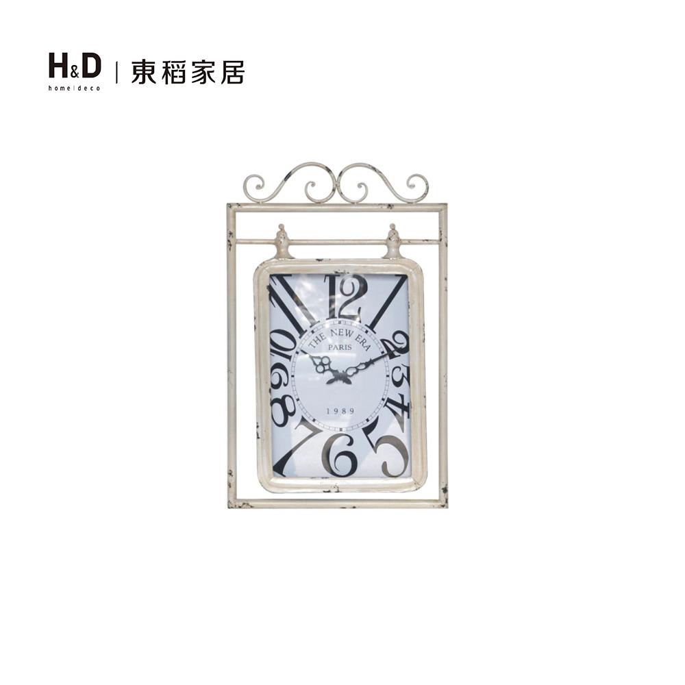 鐵藝仿舊長方壁鐘