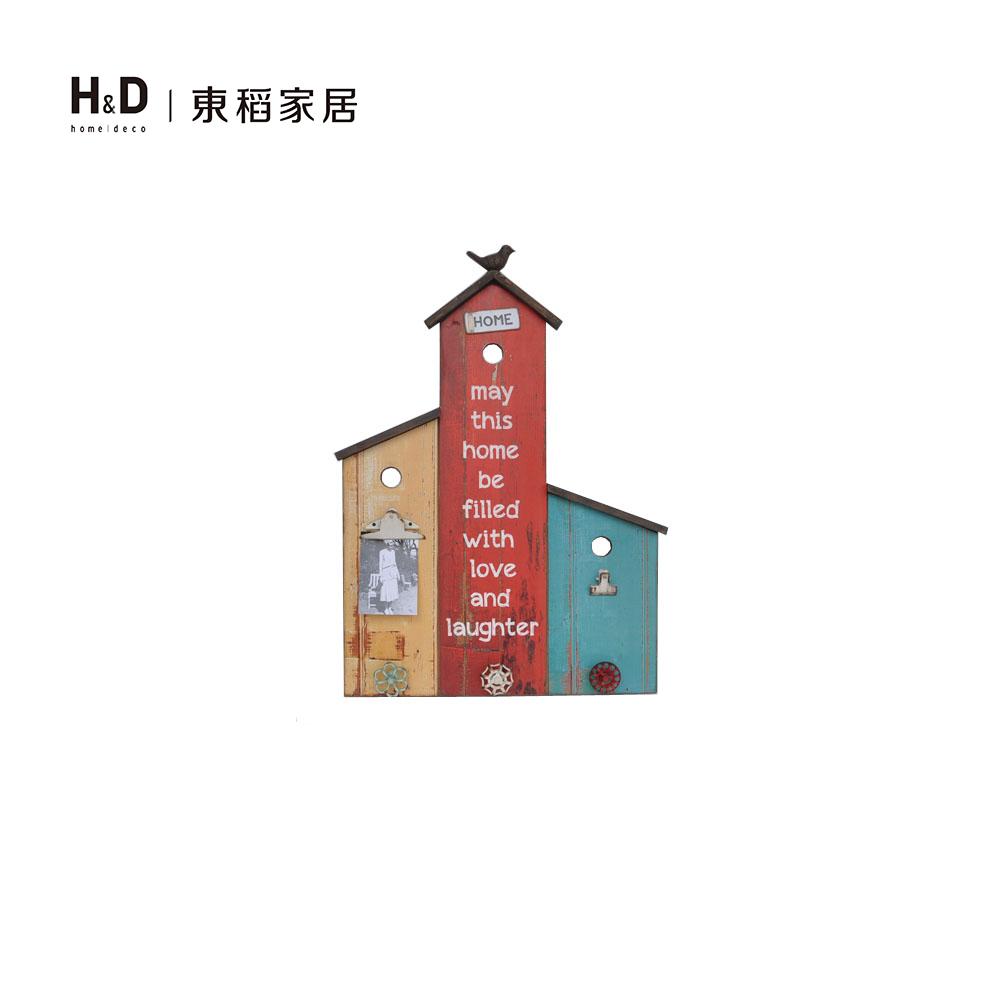彩色小屋便條木掛鉤壁架