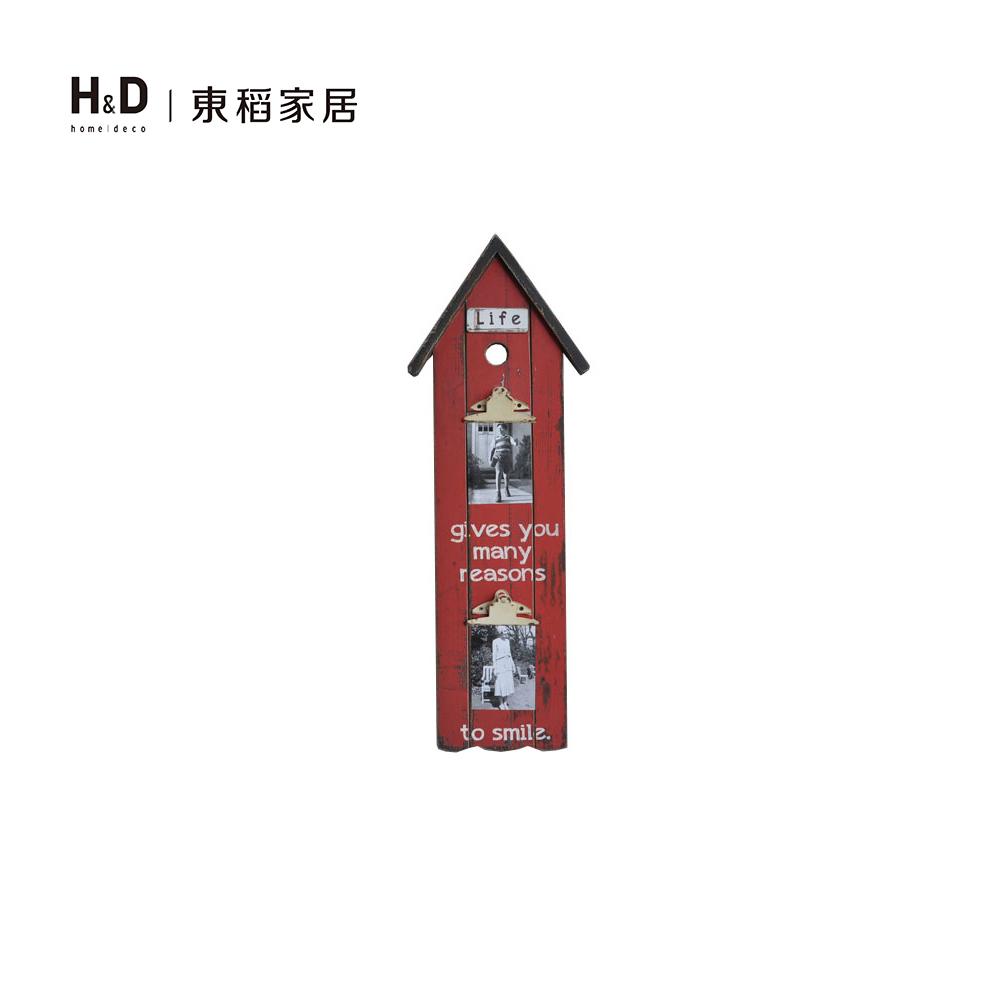 紅色小屋便條木壁飾