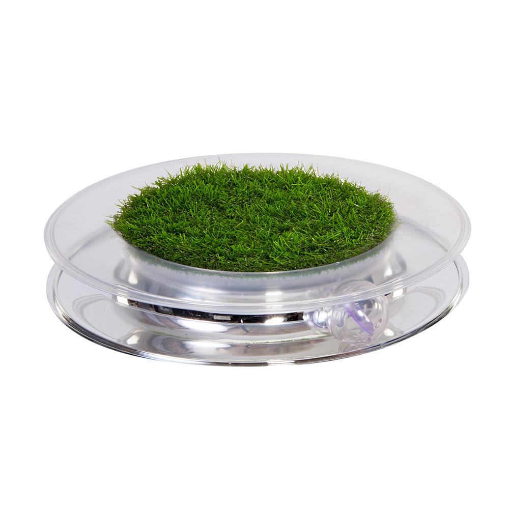 翠綠草皮鏡面軌道球
