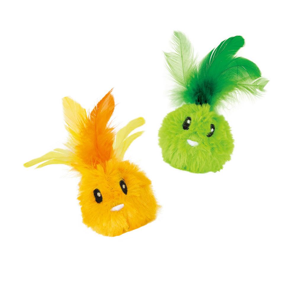 羽毛小丸子-貓草玩具