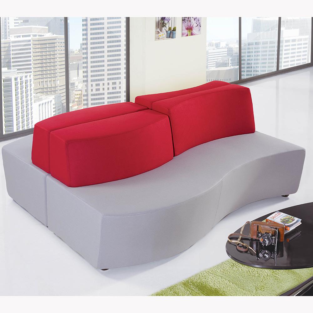 商用休閒沙發組-靠背波浪型