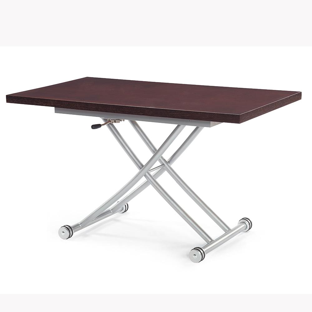 胡桃色紋氣壓多功能桌