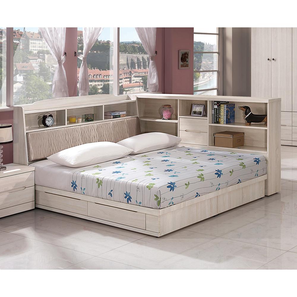 瑪奇朵5尺抽屜式床底(不含床頭及床邊櫃)