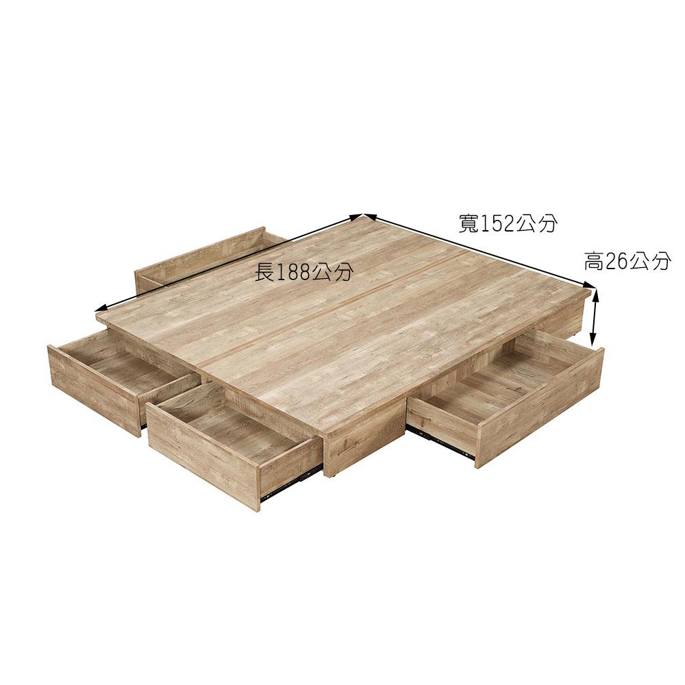 工業風5尺置物床底