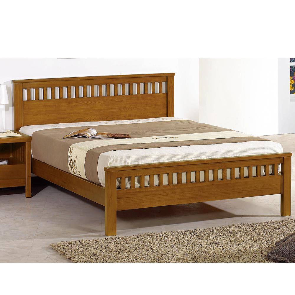 李維3.5尺柚木單人床架
