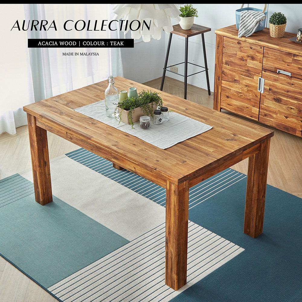 奧拉鄉村系列實木餐桌