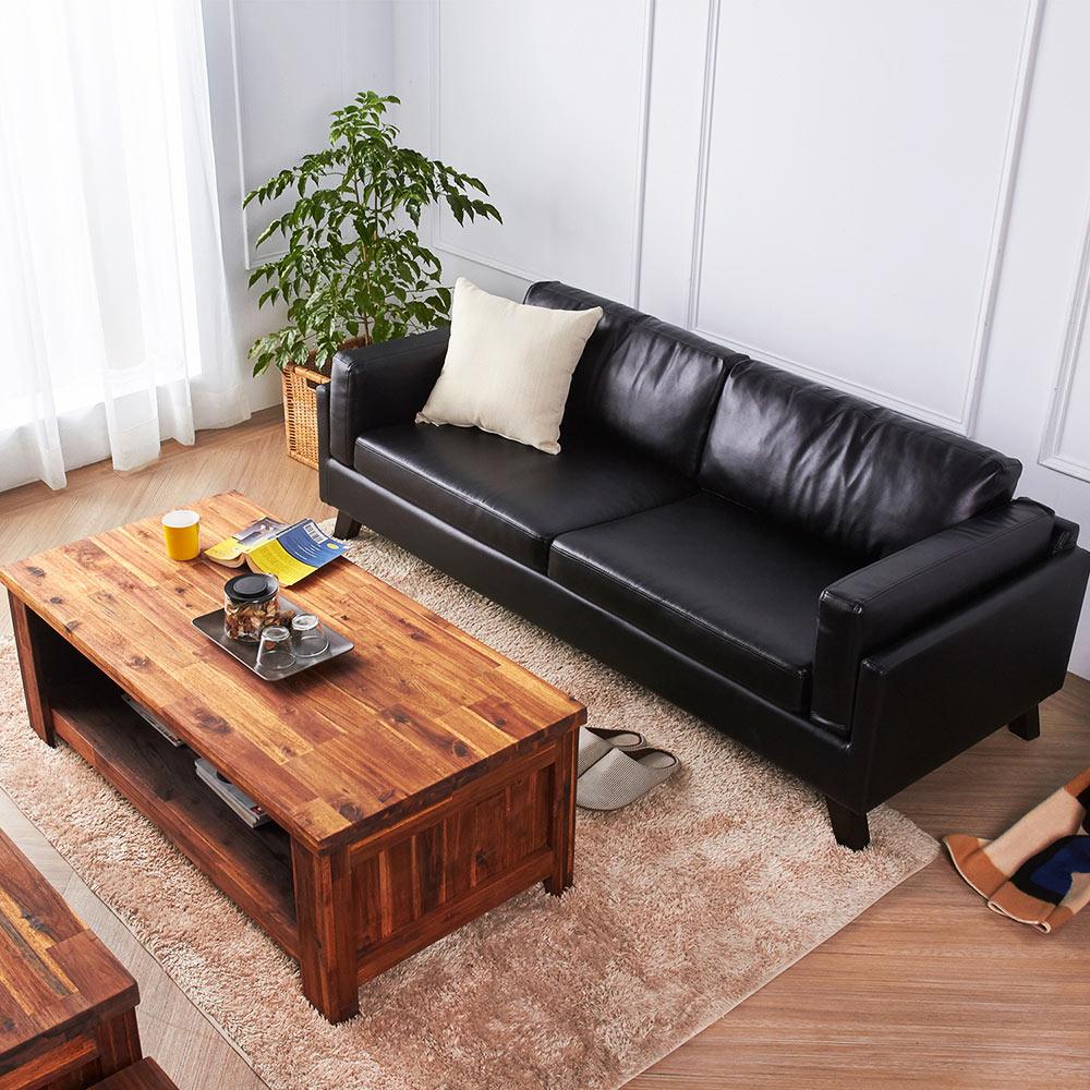 奧拉鄉村系列實木客廳雙件組(沙發+茶几)