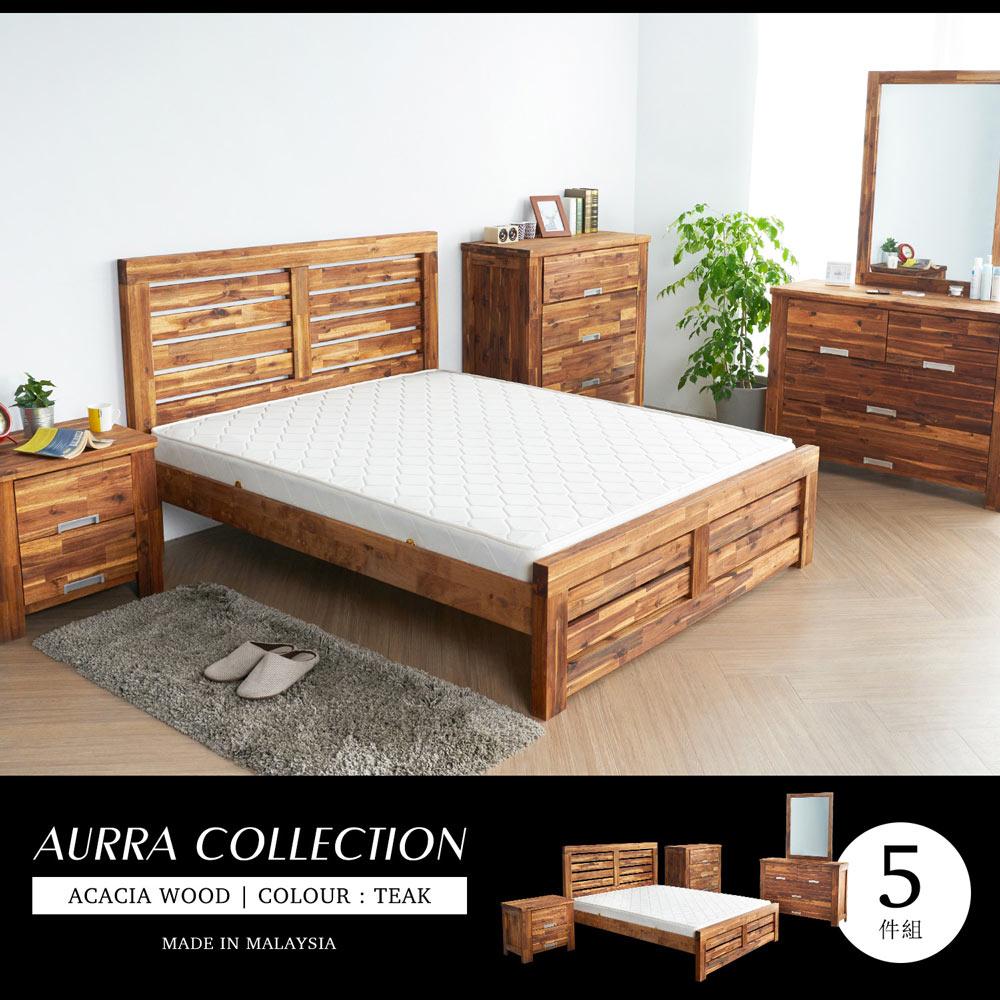 奧拉鄉村系列實木雙人房間5件組