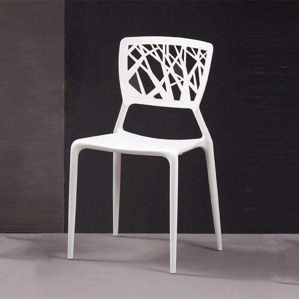 珍妮絲造型椅(白) (CM/992-8)【H&D DESIGN】