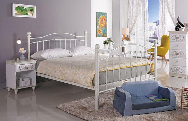 凱特兒5尺白色鐵床床架(15CS3/496-2)