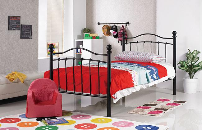 凱特兒3.5尺黑色鐵床床架(15CS3/498-1)